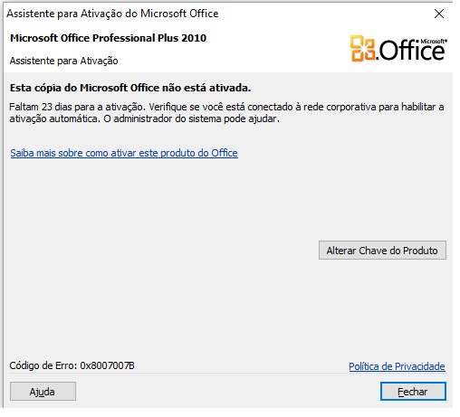 chave de ativao do microsoft office professional plus 2010
