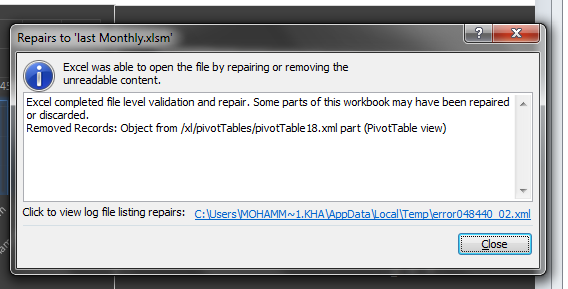 excel found unreadable content in filename xlsm microsoft community