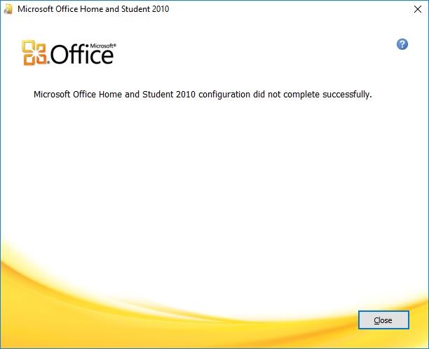 ms office 2010 will not uninstall