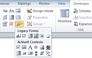 Drop Down feature not working in office 2011 for mac