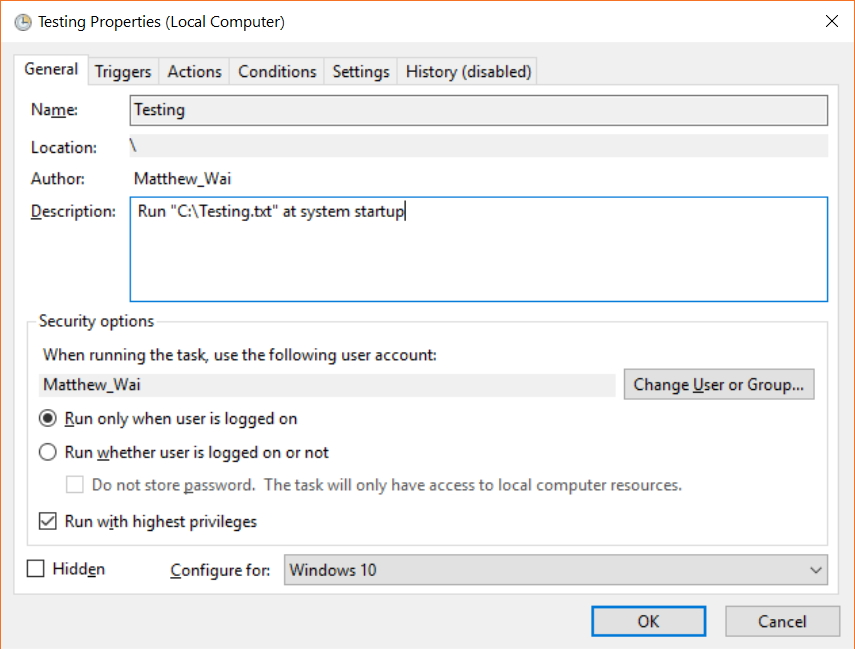 Task Scheduler cannot run files at system startup  Is there