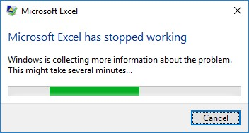 """microsoft excel has stopped working  Microsoft Excel Has Stopped Working"""" crash in Excel on - Microsoft ..."""