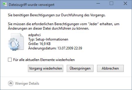Unterschiedliche Fenster-Grösse beim Löschen von Dateien, Bestätigen-Taste verschoben