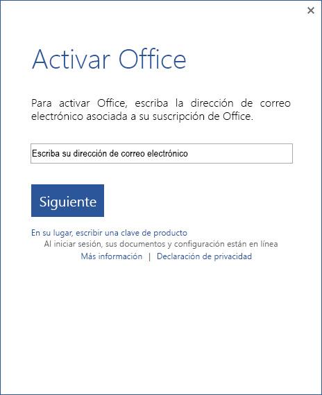 clave para office 2013