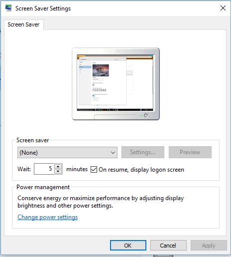 Windows 10 Screensaver Stuck On 5 Minutes Microsoft Community