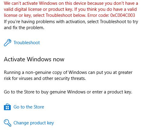 windows 10 pro online activation key