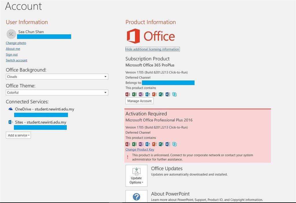 microsoft office 2016 product id