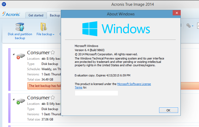 Acronis True Image and Disk Director issues with 8960