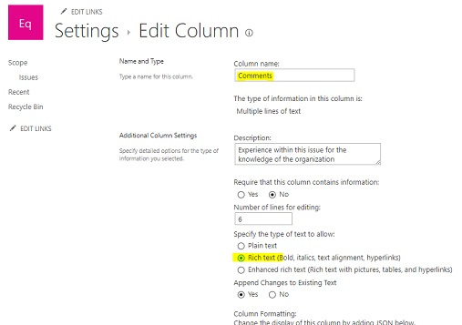 how to add a link in comments in issue tracking microsoft community