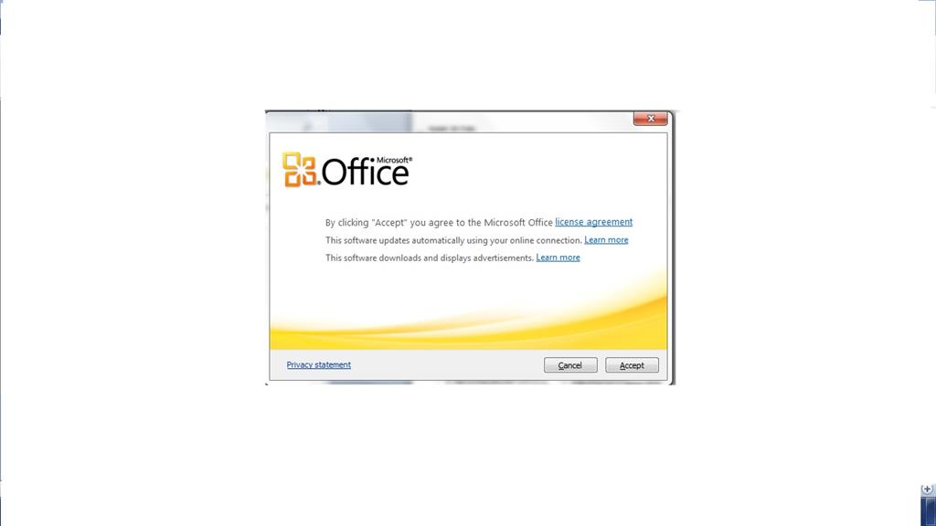 Prompt To Accept License Agreement Microsoft Community