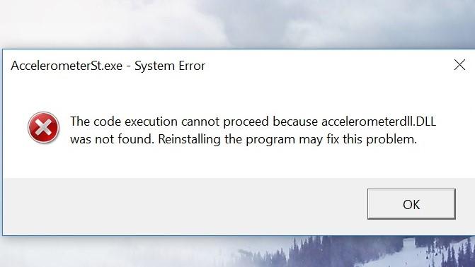 AccelerometerST.exe - System Error - Microsoft Community