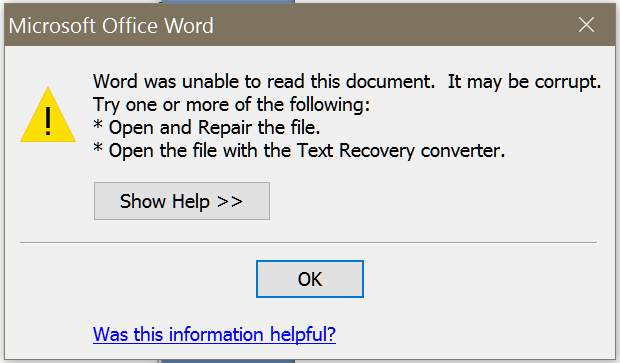 how to restore old version of word document