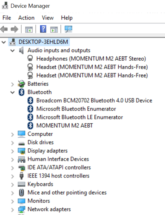 Build 14251 for Windows 10 x64: Sennheiser Bluetooth wireless