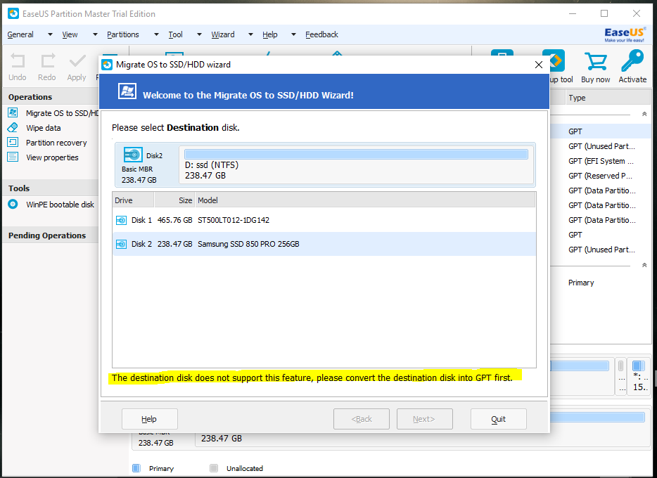 Migrate windows 10 to ssd gpt | Converting Windows 10 SSD from MRB