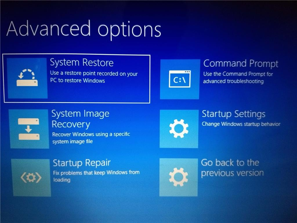 Windows 10 uefi setting not shown in advance setting