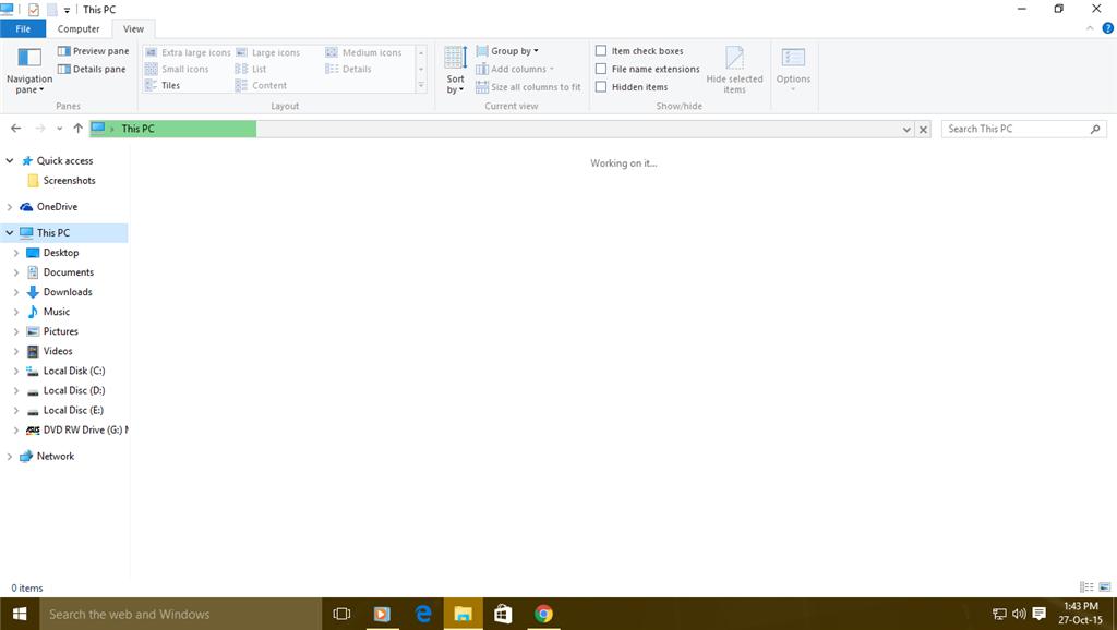 file explorer working on it