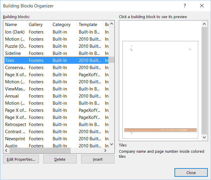 Where Are The Word 2016 Downloadable Headersfooters Microsoft