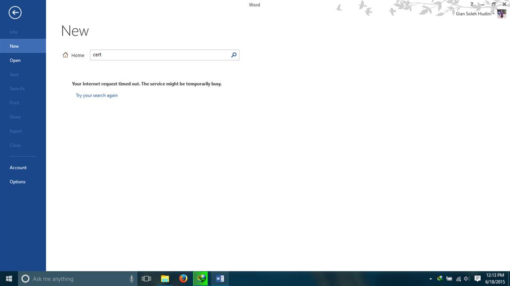 Error At Ms Office 2013 Windows 10 Build 10122 Microsoft Community