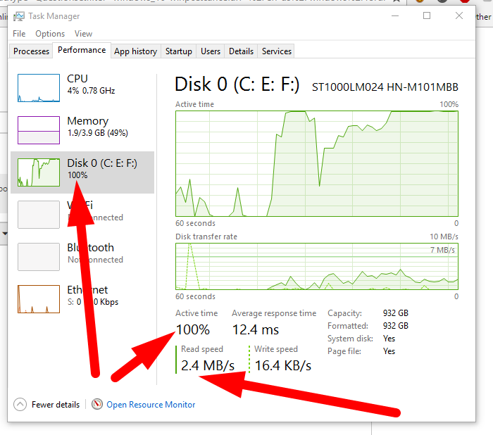 lenovo disk usage 100 windows 8