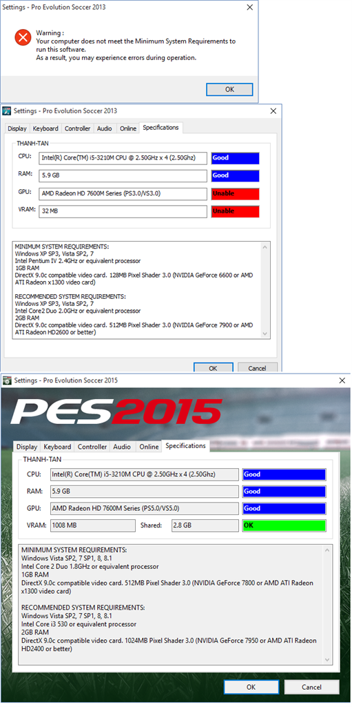 Window 10 pes 2013 - Microsoft Community