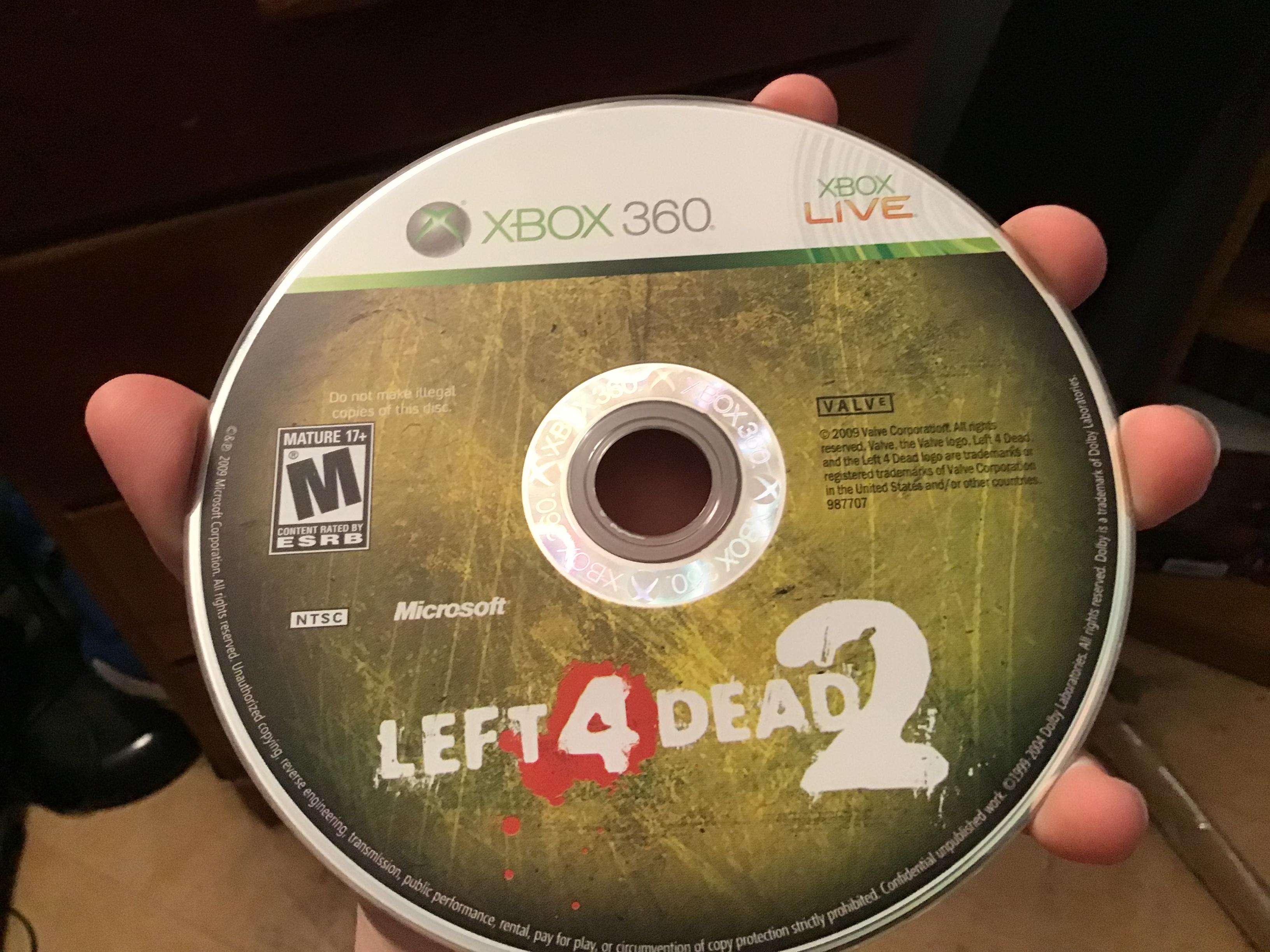My L4D2 disc won't work, my Xbox doesn't load it [IMG]