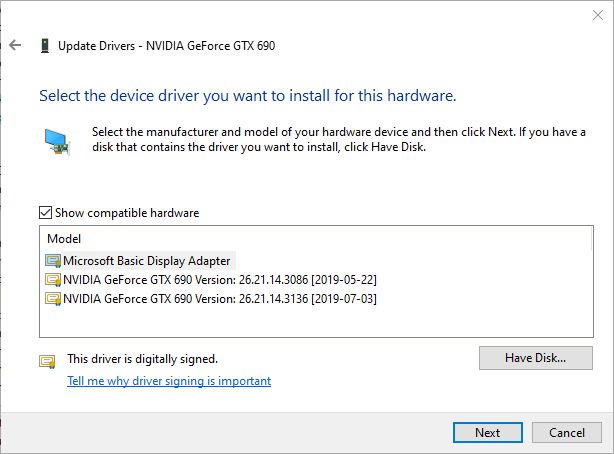 Build 18362 175 (1903) and NVIDIA Driver - Microsoft Community