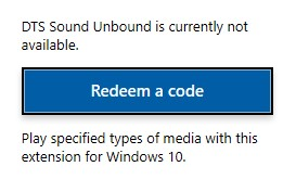 DTS Sound Unbound coming soon in Windows Store - Microsoft Community