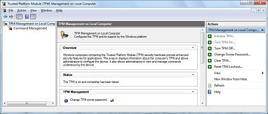 BitLocker doesn\u0027t detect TPM chip on my notebook - Microsoft Community