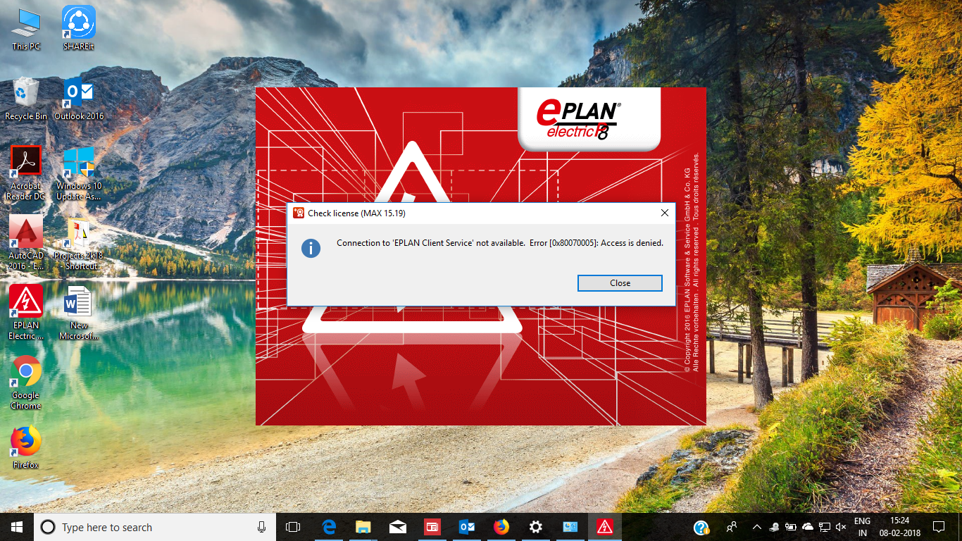 Due to recent windows 10 updates my Eplan software stopped