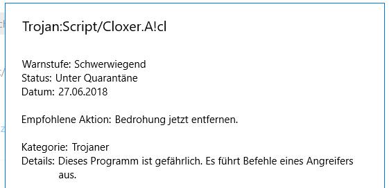 Schadsoftware / Trojaner entfernen