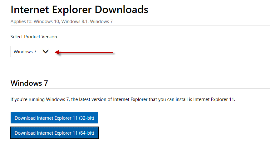 Update Internet Explorer from IE 8 to IE 11 - Microsoft