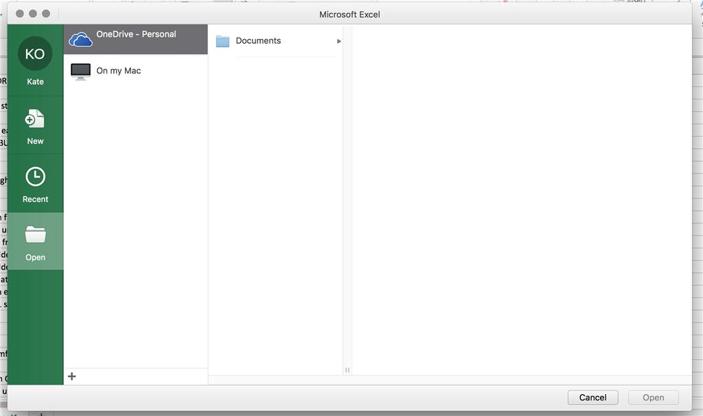 open excel files on mac