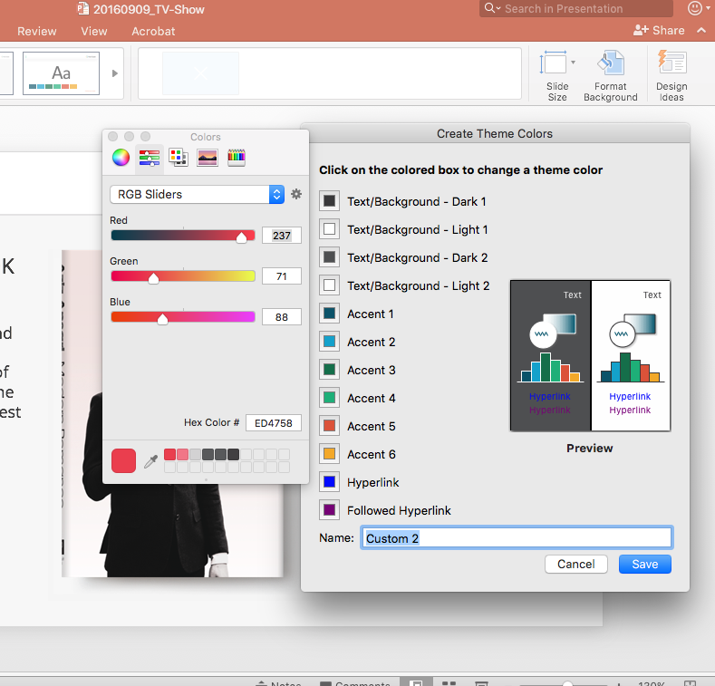 Changing Theme Colors - Powerpoint For Mac 2016 - Microsoft Community