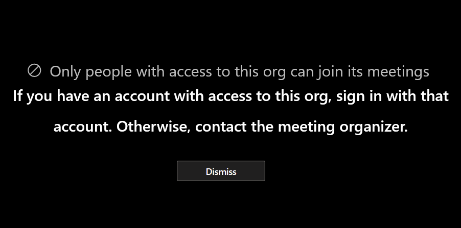Guests can't join a Microsoft Teams meeting - Microsoft