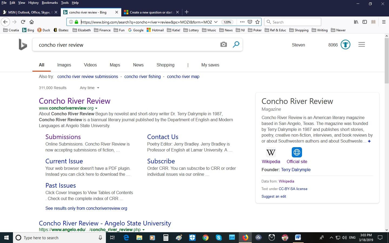 Bing Search Problem - Microsoft Community