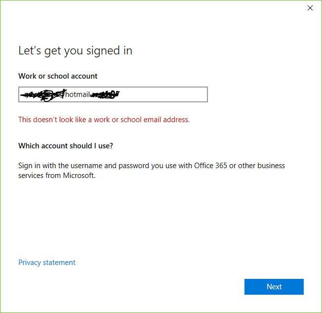Outlook asks to sign in using an Organisation's Office 365