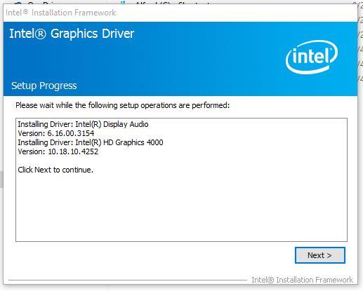 intel hd graphics 4000 driver updates