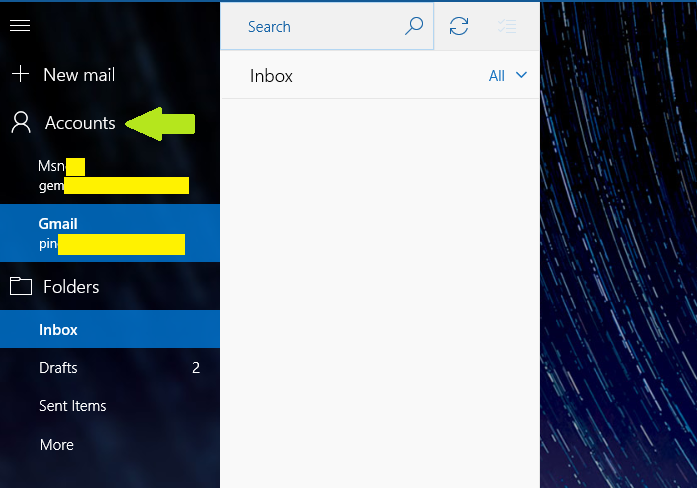 Changing sender email in mail app - Microsoft Community