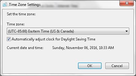 date and time not updating windows 7