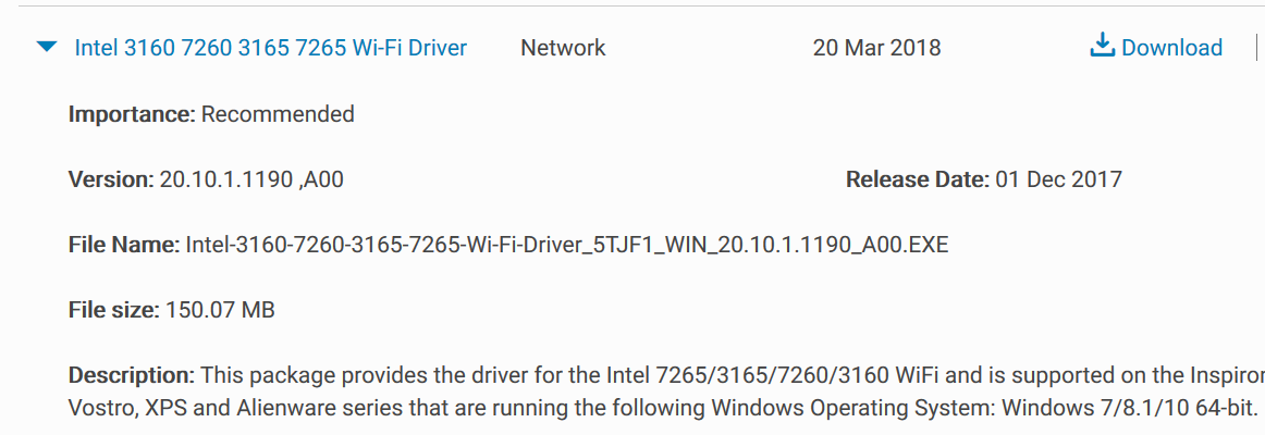 dell vostro wifi driver for windows 10 64 bit