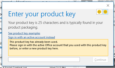 how do i renew my office 365 product key