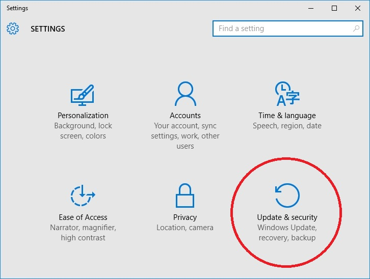 How to upgrade from the windows 10 insider preview to windows 10 click update security click windows update ccuart Choice Image