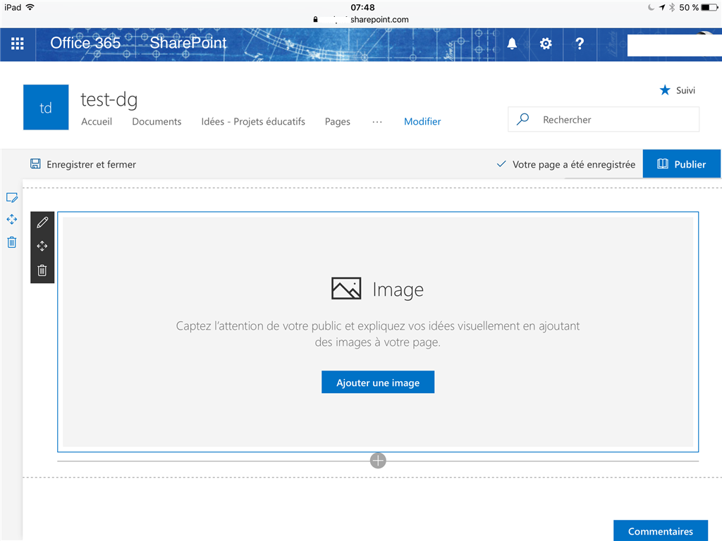 And an image in a News WebPart from a mobile app in Sharepoint