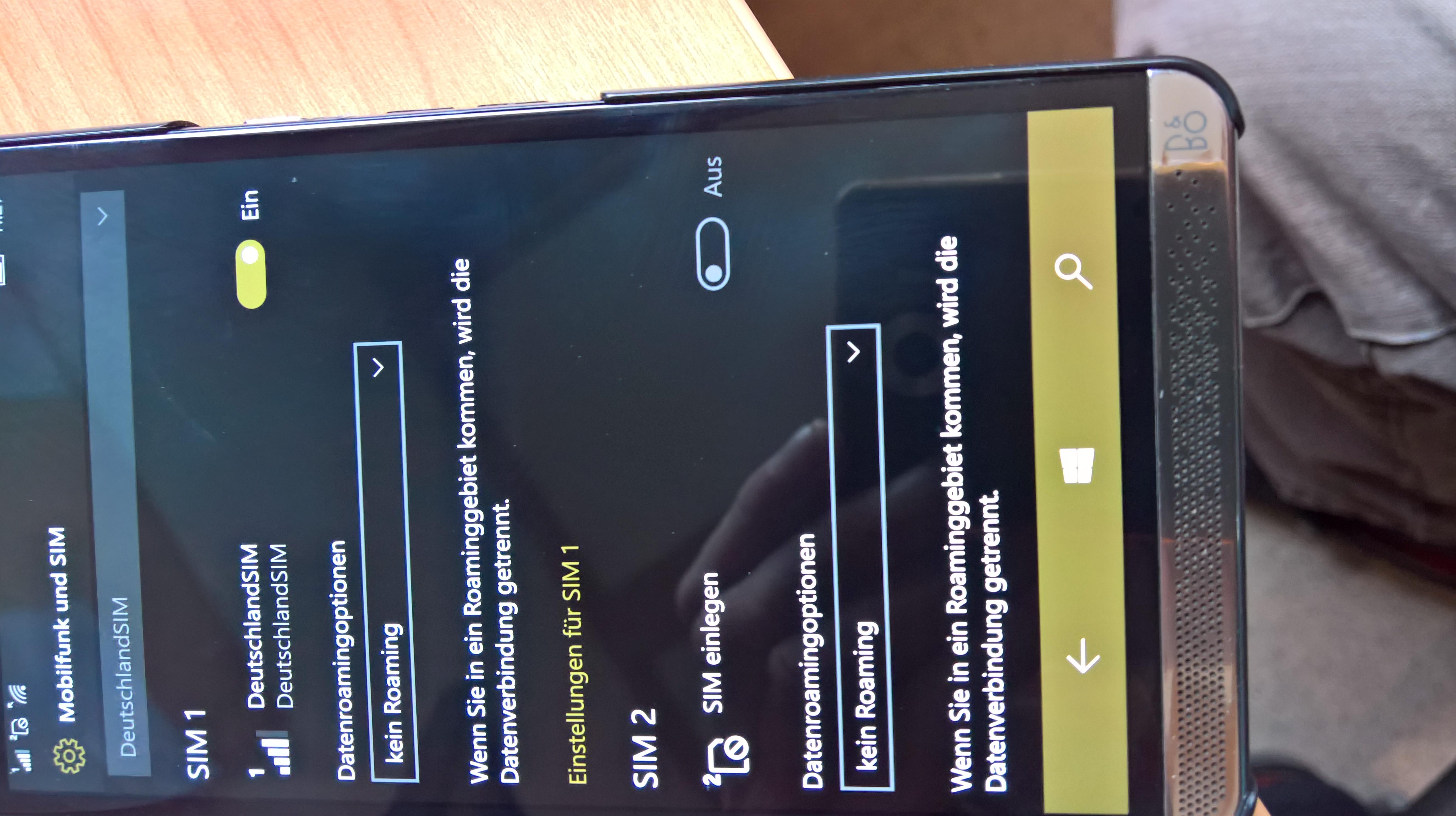 2. SIM-Kartenslot kann nicht eingeschaltet werden