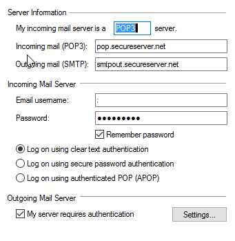 Cannot Connect to GoDaddy Hosted POP3 Accounts - Microsoft