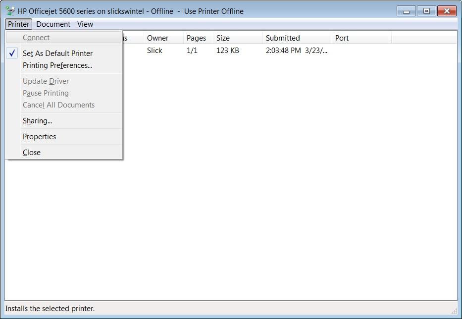Make an OfficeJet 5600 online - Microsoft Community