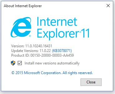 Windows 10 Internet Explorer started to crash - Microsoft