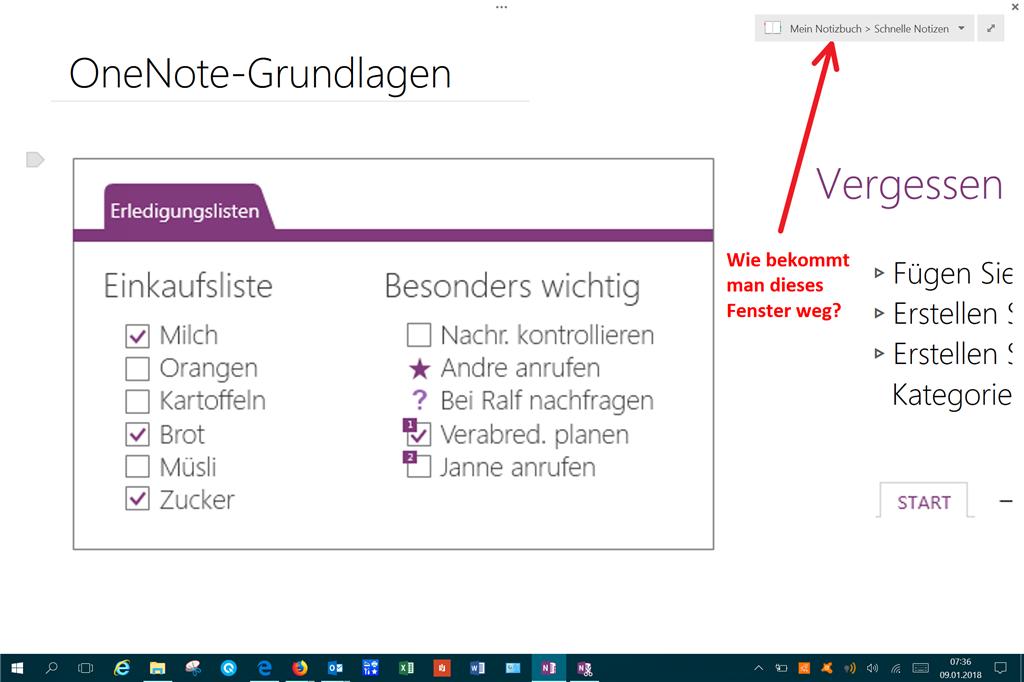 One note 2013 info fenster im vollbildmodus entfernen for Fenster immer im vordergrund
