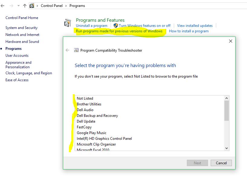Installing Older Programs on Windows 10 - Microsoft Community