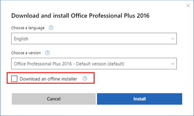 How to download Office 365 for offline install - Microsoft Community
